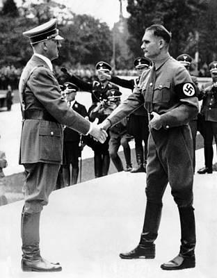 Adolf Photograph - From Left, Adolf Hitler, Deputy Rudolf by Everett