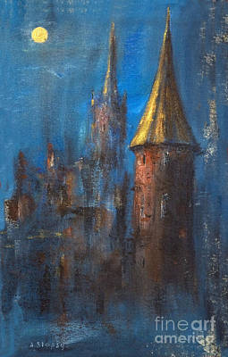 Art Print featuring the painting From Medieval Times by Arturas Slapsys