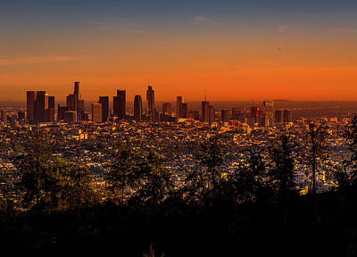 Photograph - From Mount Hollywood To Los Angeles by Gene Parks