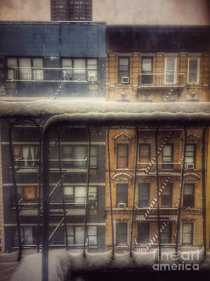 Photograph - From My Window - A Snowy Day In New York by Miriam Danar