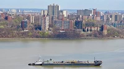 Hudson River Tugboat Photograph - From New Jersey To New York  by Kenneth Summers
