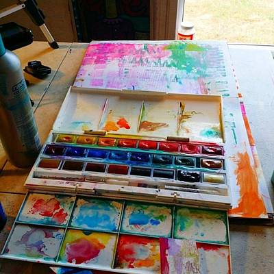 Colorful Photograph - From #palette  To #paper ..adding Some by Robin Mead