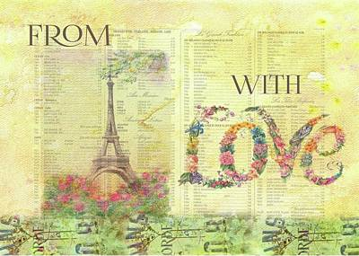 Painting - From Paris With Love Eiffel Tower by Judith Cheng