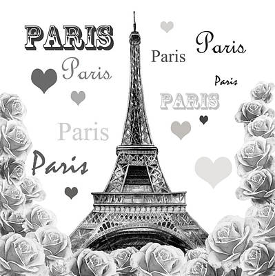Painting - From Paris With Love by Irina Sztukowski