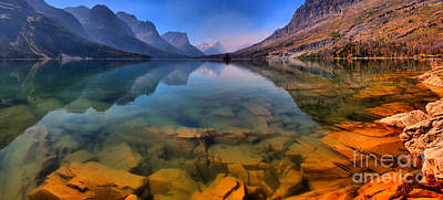 Photograph - From Rocky Shore To Towering Peaks by Adam Jewell