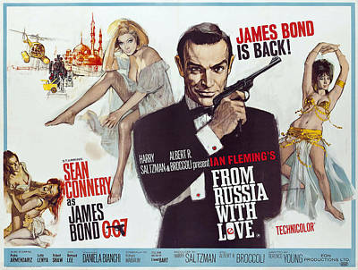 Sean Connery Photograph - From Russia With Love James Bond Lobby Poster 1963 by Daniel Hagerman