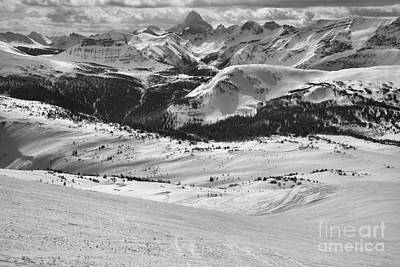 Photograph - From Sunshine To Assiniboine Black And White by Adam Jewell