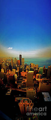 Photograph - From The Aon Building Chicago Skyline Looking North 312 02 2027 by Tom Jelen
