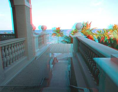 Photograph - From The Balcony In 3d by Ron Davidson