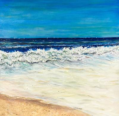 Painting - From The Beach by Chuck Gebhardt