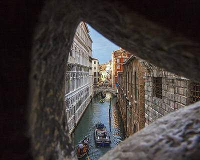 From The Bridge Of Sighs Venice Italy Art Print by Rick Starbuck