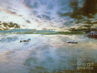 Art Print featuring the photograph From The Causeway by Leigh Kemp