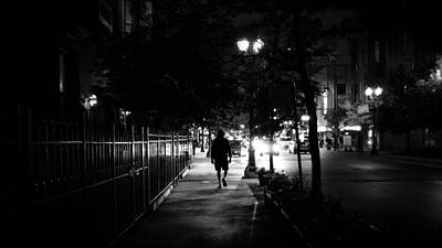 35mm Photograph - From The Dark - Chicago, United States - Balck And White Street Photography  by Giuseppe Milo