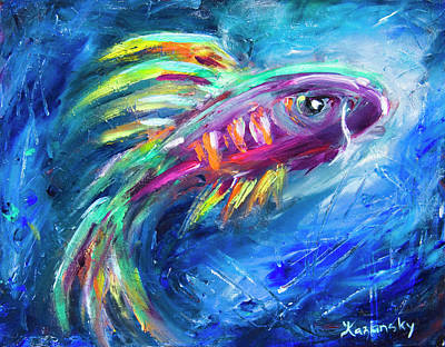 Painting - From The Deep by Yulia Kazansky