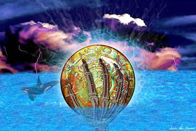 Digital Art - From The Depths by Iowan Stone-Flowers