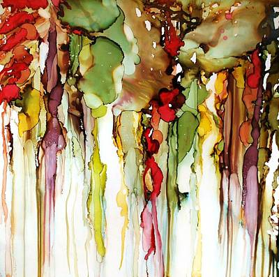 Alcohol Ink Wall Art - Painting - From The Earth by Lynn Callahan