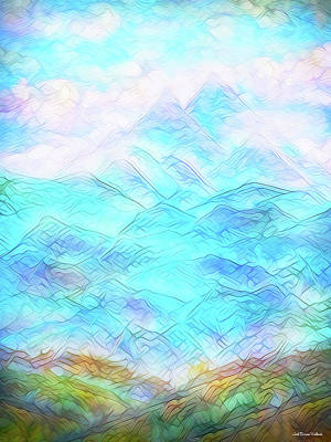 Digital Art - From The Fields To The Clouds by Joel Bruce Wallach