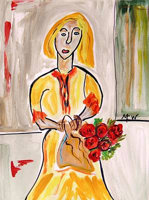 Mary Carol Art Drawing - From The Flower Market by Mary Carol Williams