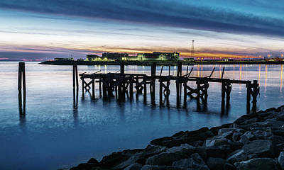 Photograph - From The Fort Monroe Seawall by Jerry Gammon