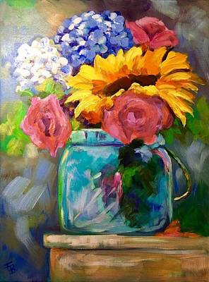 Painting - From The Garden by FayBecca Designs
