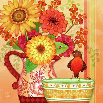 Digital Art - From The Garden by Valerie Drake Lesiak
