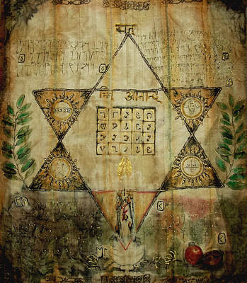 Hexagram Painting - From The Grimoire Inner Desire Becoming  by Silk Alchemy