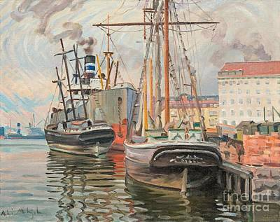 Painting - From The Harbour Of Helsinki by Celestial Images