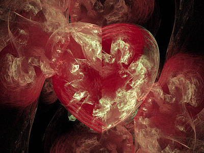Digital Art - From The Heart by Michele A Loftus