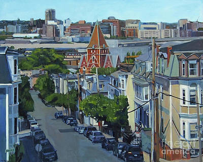 Southie Painting - From The Heights To Boston by Deb Putnam