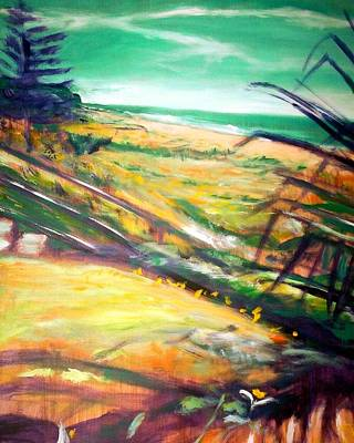 Print featuring the painting From The Lawn Pandanus by Winsome Gunning