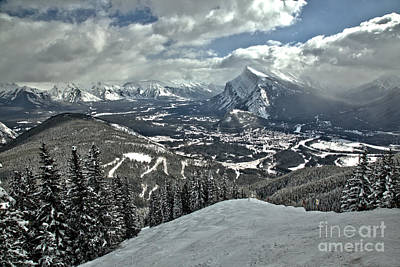 Photograph - From The Norquay Slopes To The Peak Of Rundle by Adam Jewell