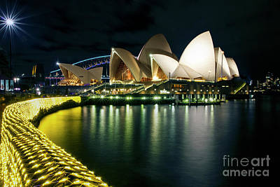 Photograph - From The Other Side - Sydney Opera House - Vivid Sydney by Bryan Freeman