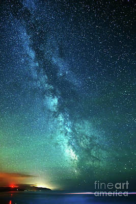 From The Pacific To The Milky Way Art Print by Tim Moore