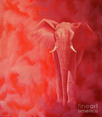 Visionary Painting - From The Past by Brian  Commerford