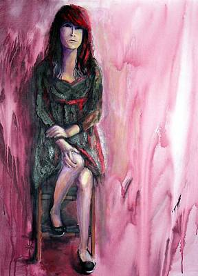 Painting - from the Red Tent series too by Jodie Marie Anne Richardson Traugott          aka jm-ART