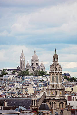 Sacre Coeur Photograph - From The Rooftop - Paris, France by Melanie Alexandra Price