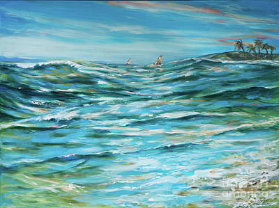 Painting - From The Shore by Linda Olsen