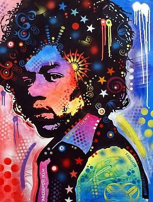 Jimi Hendrix Painting - From The Sun by Dean Russo