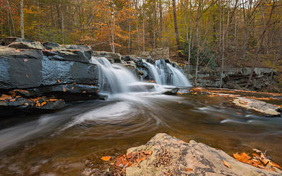 Photograph - From The Top Brush Creek Falls by Rick Dunnuck