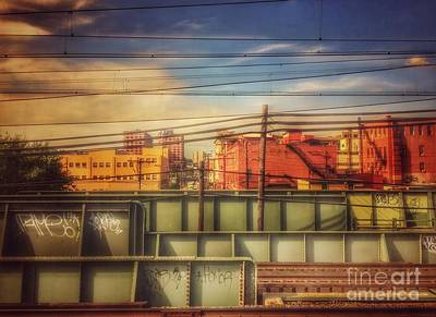 Photograph - From The Train - On The New Jersey Transit Line by Miriam Danar
