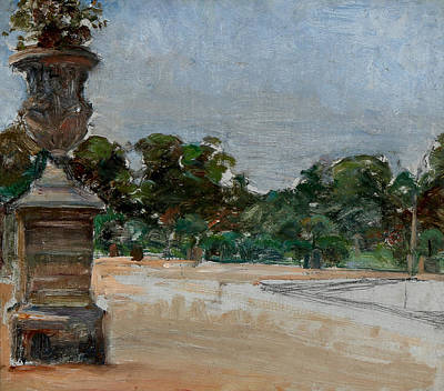 Painting - From The Tuileries Garden In Paris by Albert Gottschalk