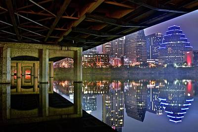 Photograph - From Under The Bridge In Austin by Frozen in Time Fine Art Photography