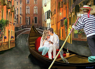 Digital Art - From Venice With Love by Glenn Holbrook