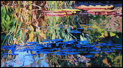 Painting - From Warm To Cool by John Lautermilch
