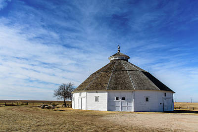 Modern Man Famous Athletes - Fromme-Birney Round Barn by Paul Moore