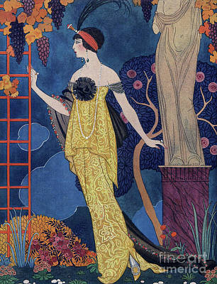 Evening Dress Drawing - Front Cover Of Les Modes by Georges Barbier