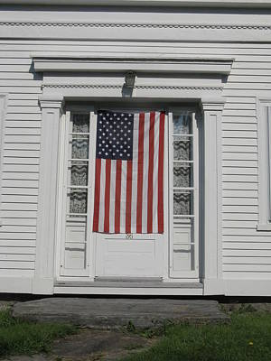 Photograph - Front Door Flag by Bill Tomsa