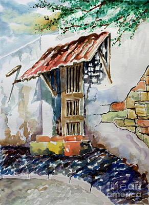 Watercolor Painting - Front Door by Kandyce Waltensperger