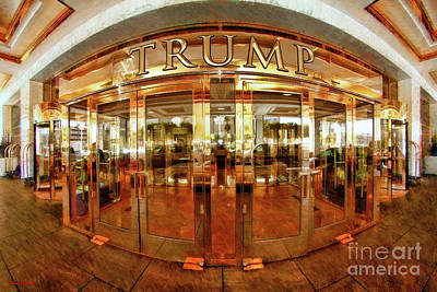 Photograph - Front Door Trump International Hotel Las Vegas by Blake Richards