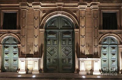 Photograph - Front Doors San Francisco Church San Salvador by Vivian Christopher